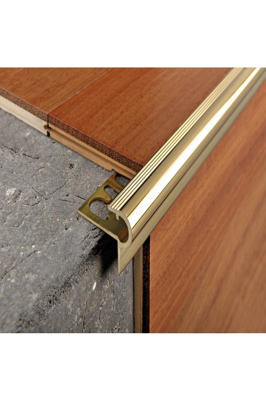 Профиль F-образный латунь полированный 12,5 мм 2,7м PSYOL 125 Progress profiles