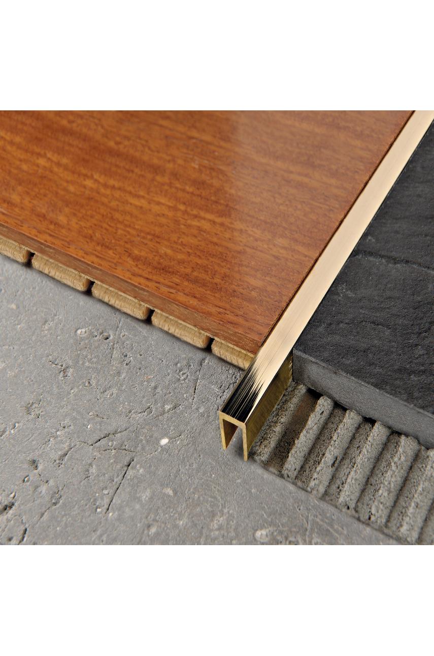 Профиль П-образный из латуни для плитки и стен Progress PСLОL 10 латунь полированная 2,7 м Progress profiles