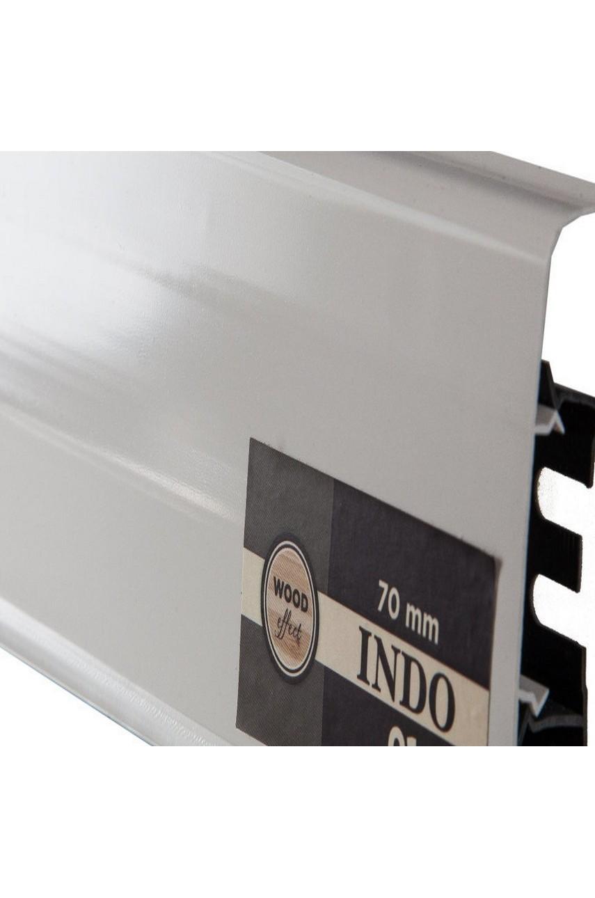 Плинтус Arbiton Indo 70мм ПВХ 01 Белый Блеск 70мм 2.5м