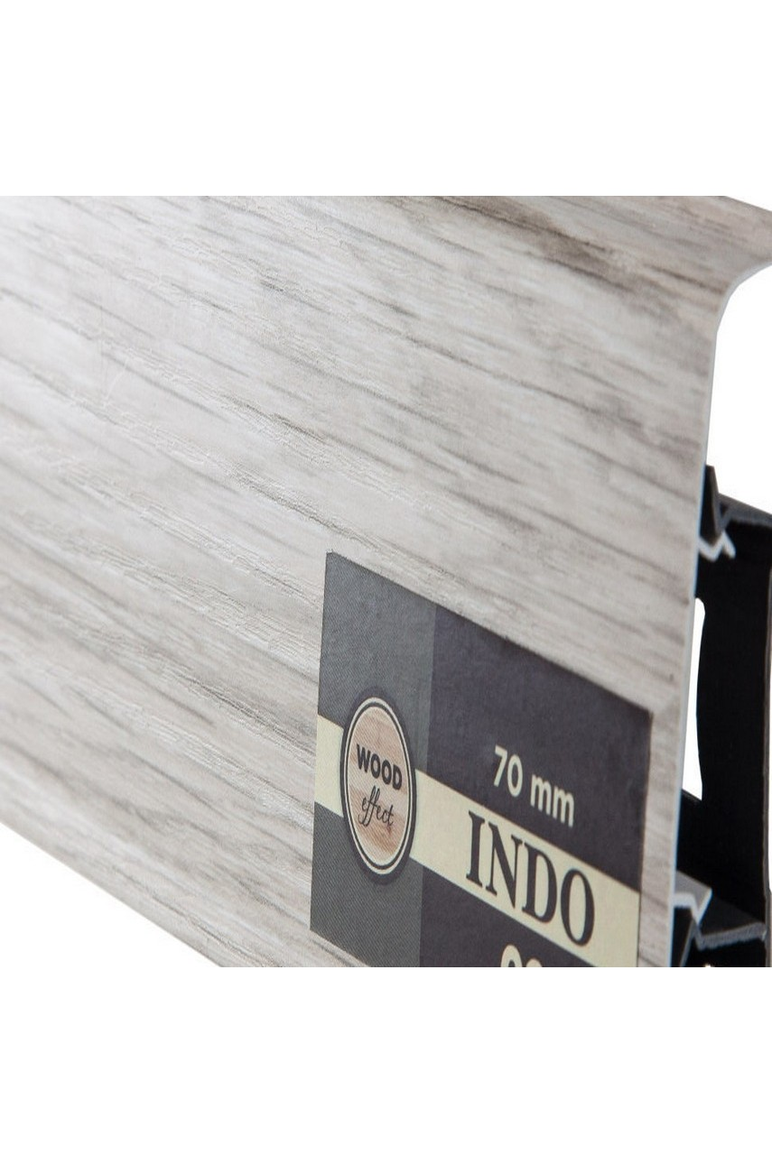Плинтус Arbiton Indo 70мм ПВХ 02 Ясень Северный 70мм 2.5м