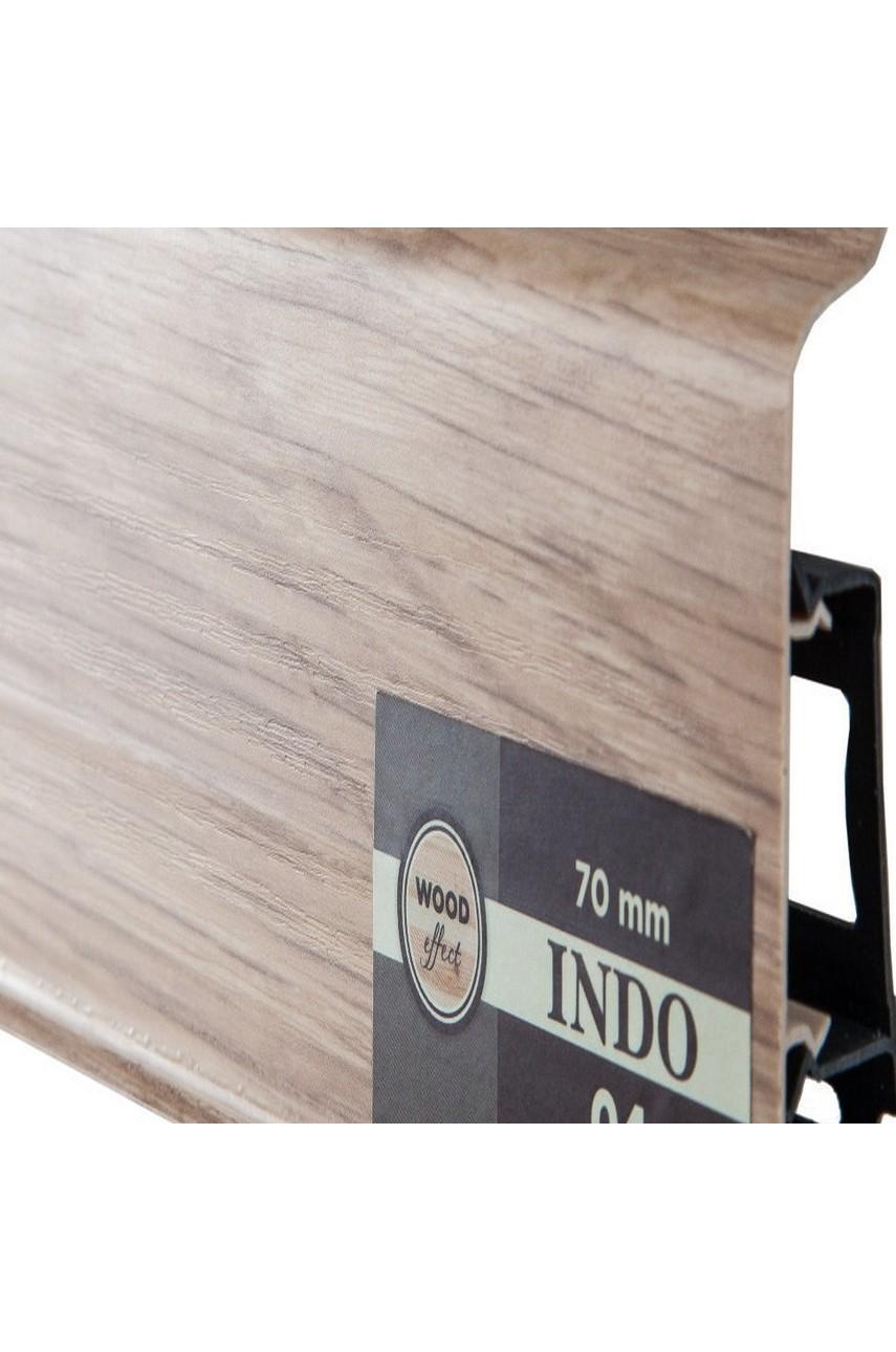 Плинтус Arbiton Indo 70 мм ПВХ 04 Дуб Лингбург