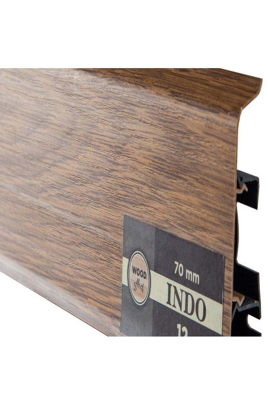 Плинтус Arbiton Indo 70мм ПВХ 12 Дуб Темный