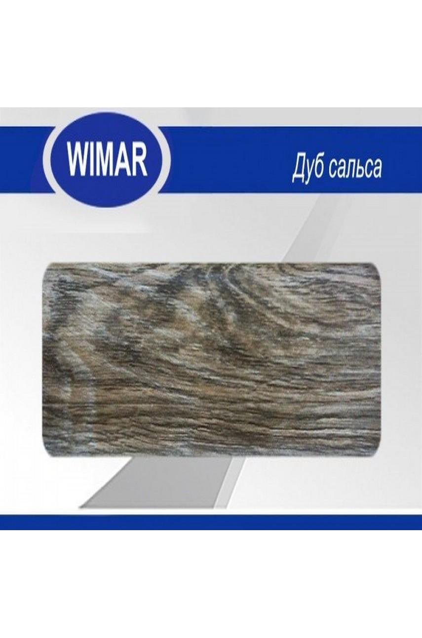 Плинтус пластиковый напольный WIMAR ПВХ 58мм Дуб сальса