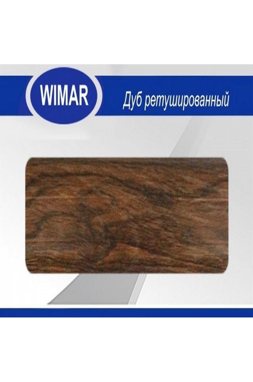 Плинтус пластиковый напольный WIMAR ПВХ 58мм Дуб ретушированный