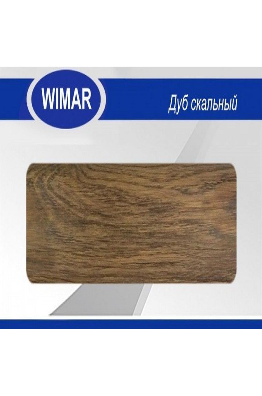 Плинтус пластиковый напольный WIMAR ПВХ 68мм Дуб скальный