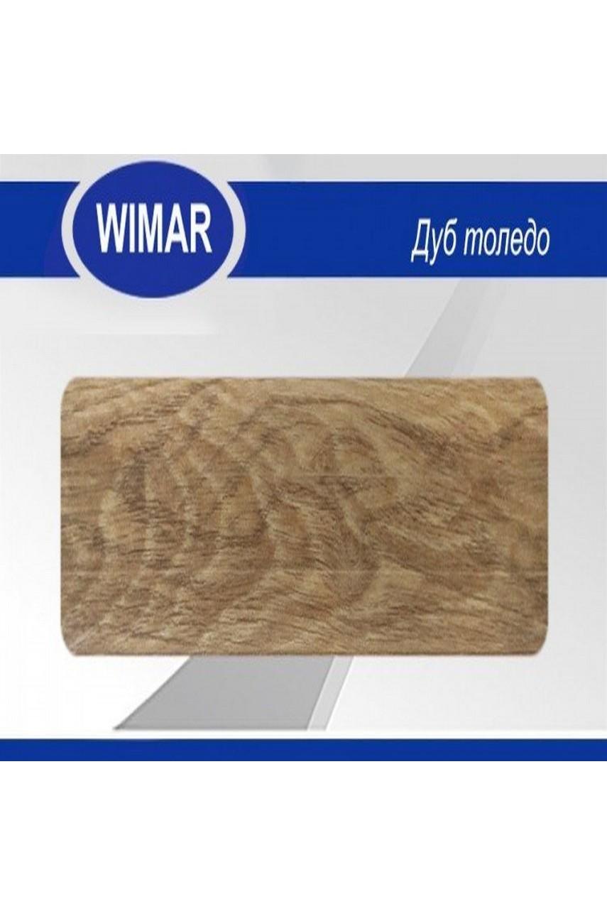 Плинтус пластиковый напольный WIMAR ПВХ 68мм Дуб толедо