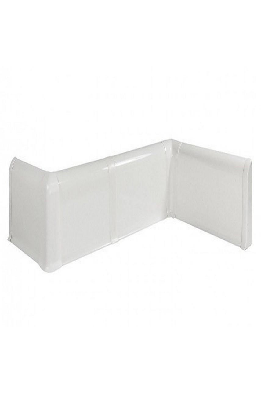 Плинтус пластиковый напольный WIMAR ПВХ 68мм Белый