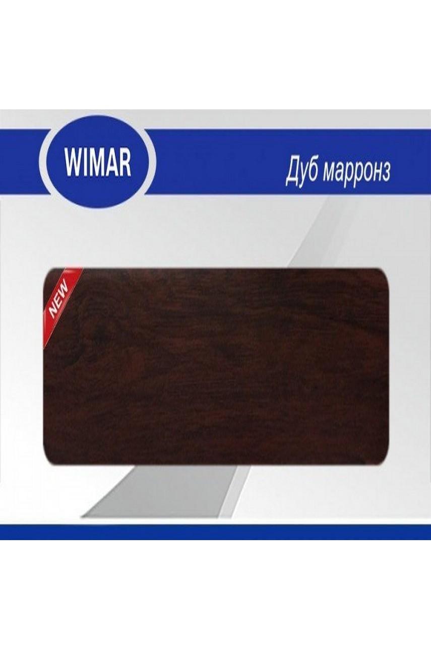 Плинтус пластиковый напольный WIMAR ПВХ 68мм Дуб марронз