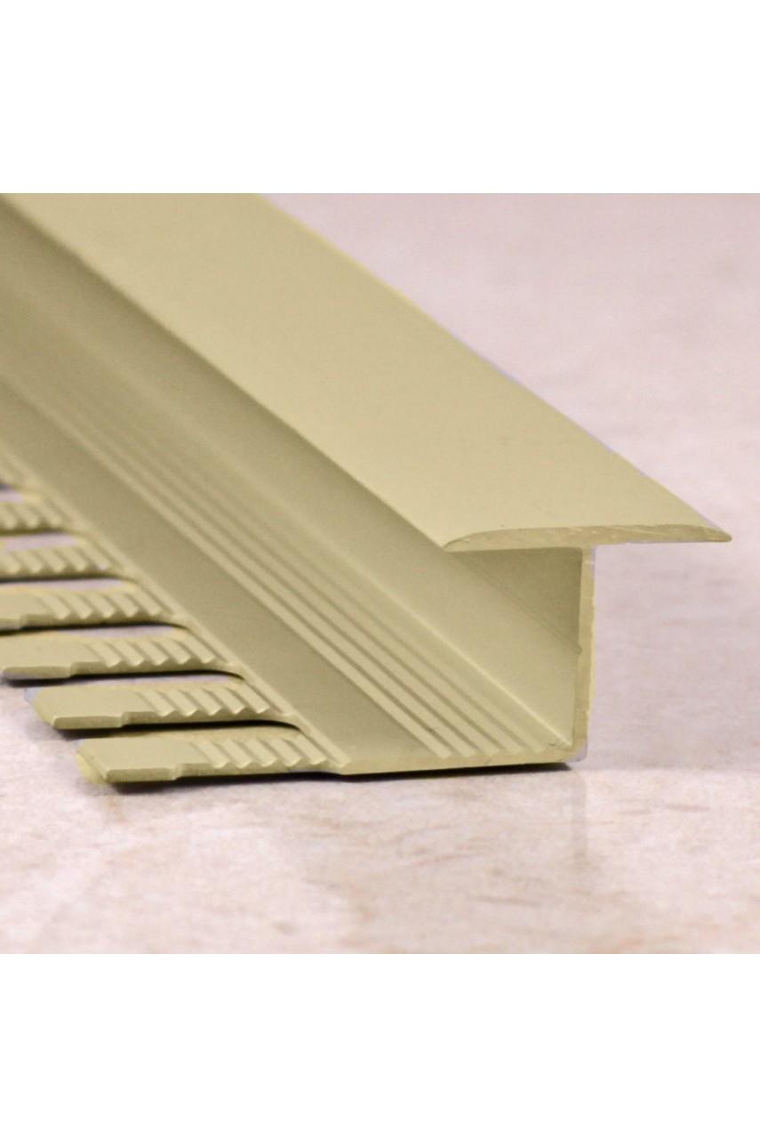 Алюминиевый Z-образный Профиль для керамический плитки Бронза Матовый 16мм ПЗ 10