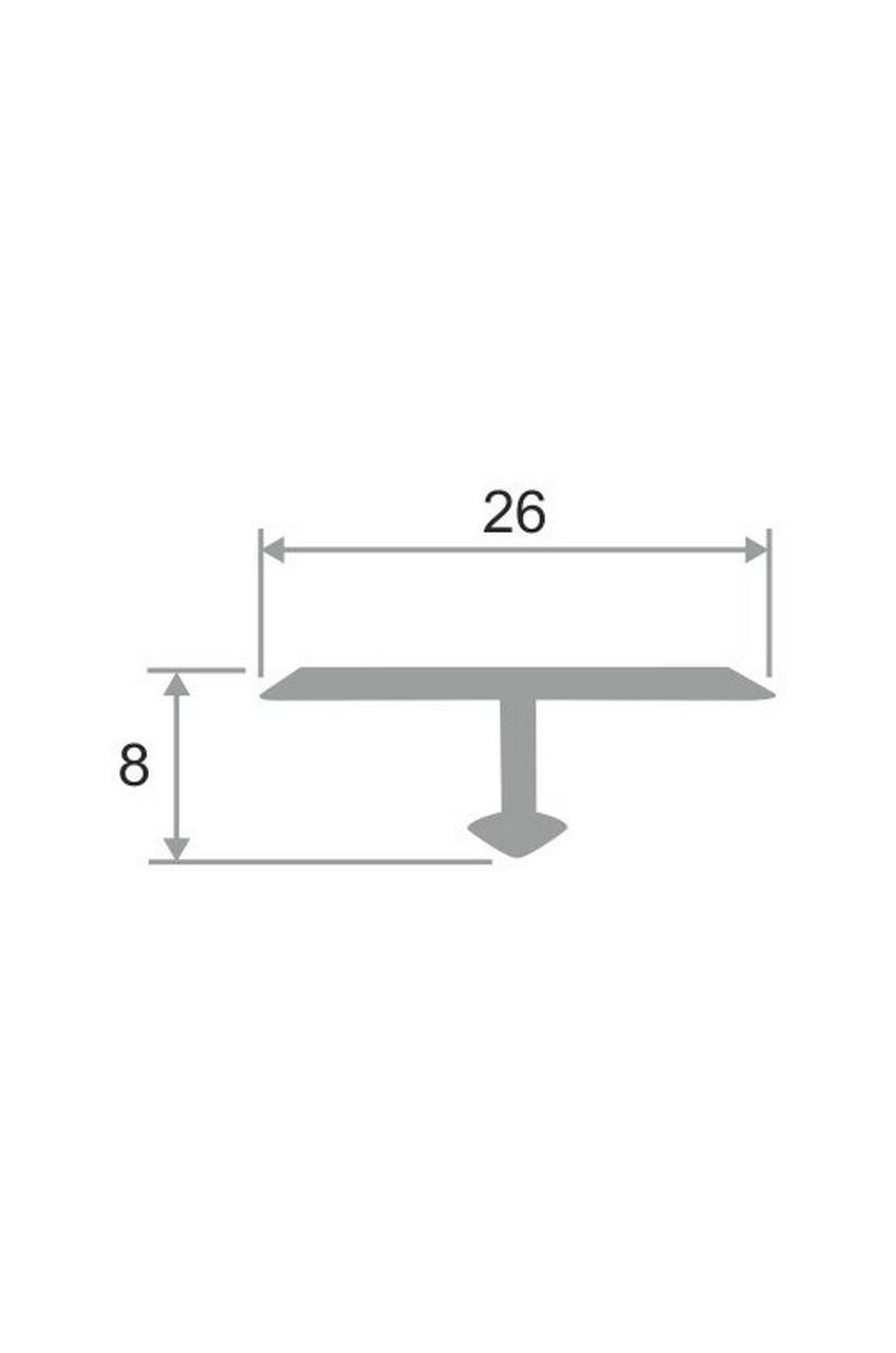 Латунный Т-образный профиль полированный ЛПТ-26 25мм