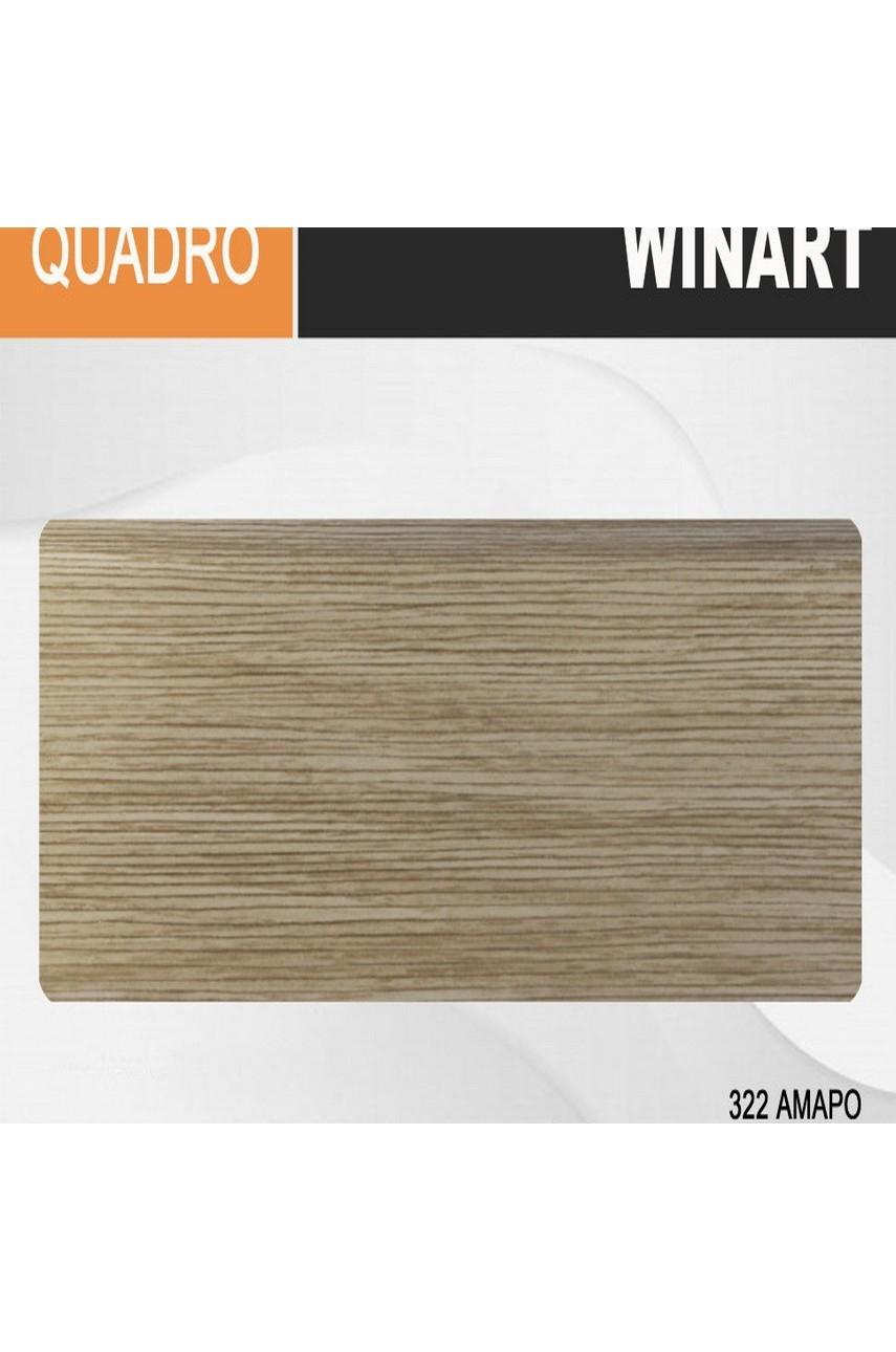 Плинтус напольный пластиковый WINART Quadro 80 мм Амаро 322