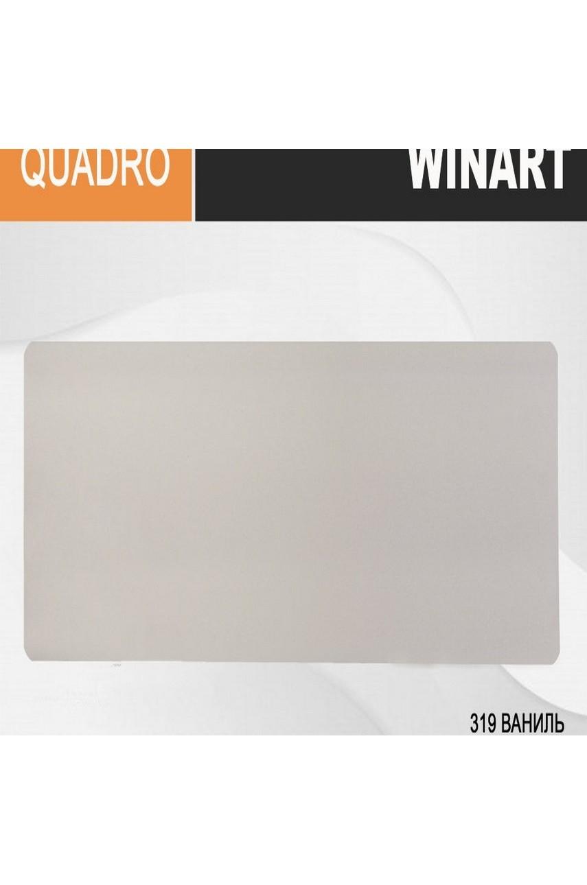 Плинтус напольный пластиковый WINART Quadro 80 мм Ваниль 319