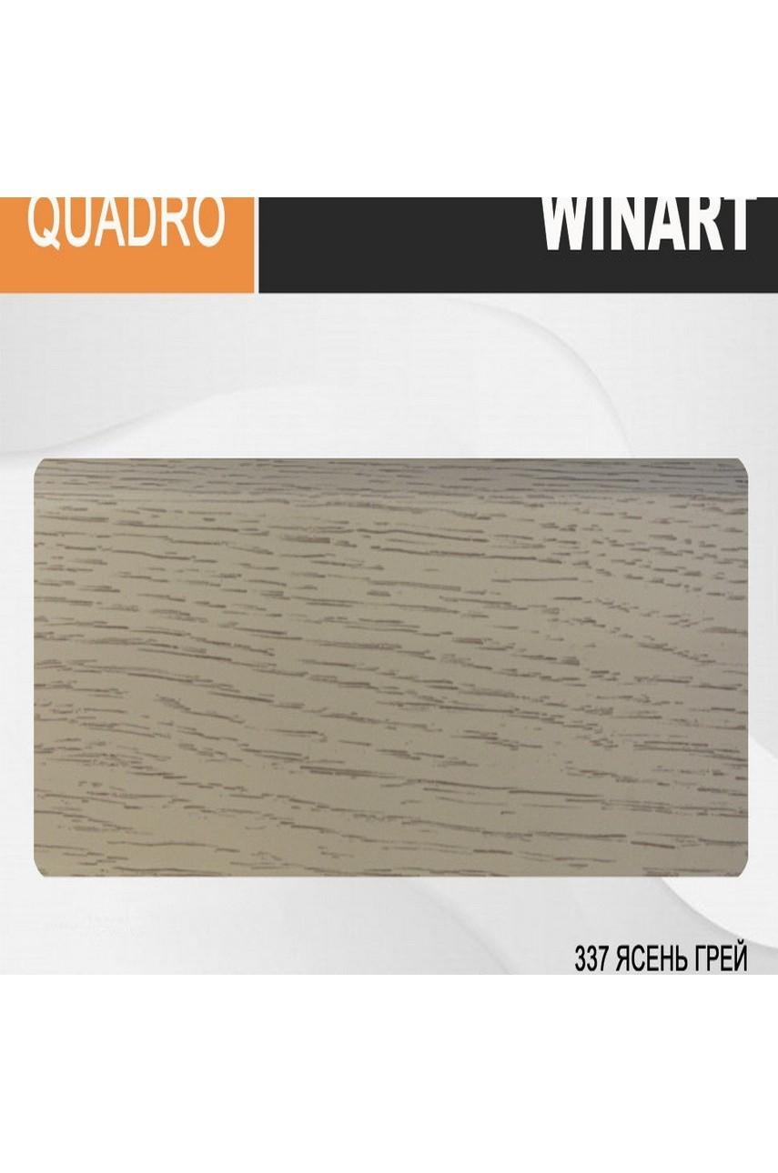 Плинтус напольный пластиковый WINART Quadro 80 мм Ясень Грей 337