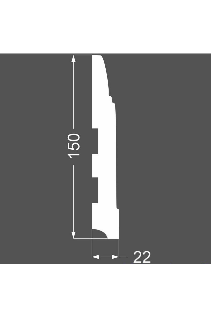 Плинтус напольный МДФ DeArtio под покраску P13.150.22