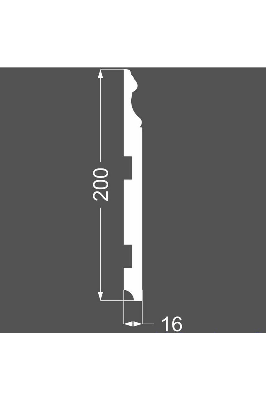 Плинтус напольный МДФ DeArtio под покраску P16.200.16