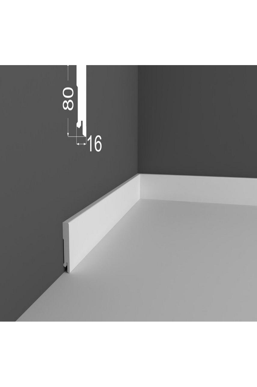 Плинтус напольный МДФ DeArtio под покраску P6.80.16