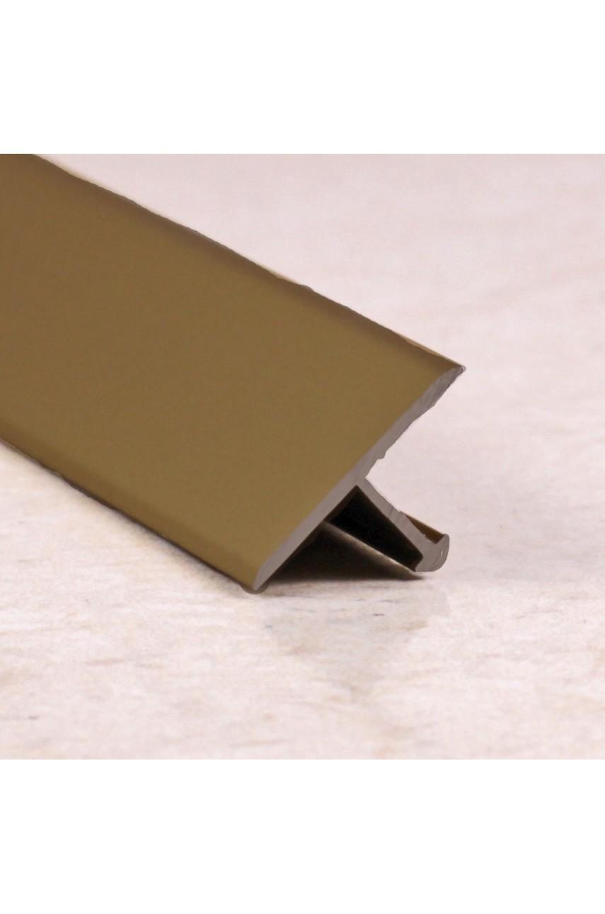Алюминиевый Т-образный Профиль Бронза Глянец 18мм ПТ 18