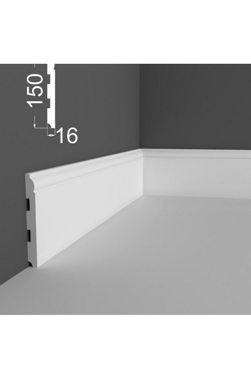 Плинтус напольный МДФ DeArtio под покраску Р4.150.16