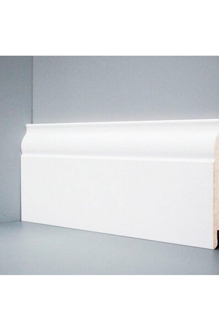 U103 - 120 мм широкий белый плинтус МДФ Deartio