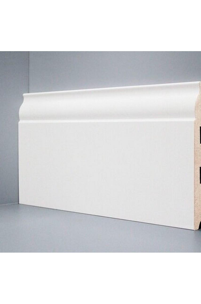 U103 - 150 мм широкий белый плинтус МДФ Deartio
