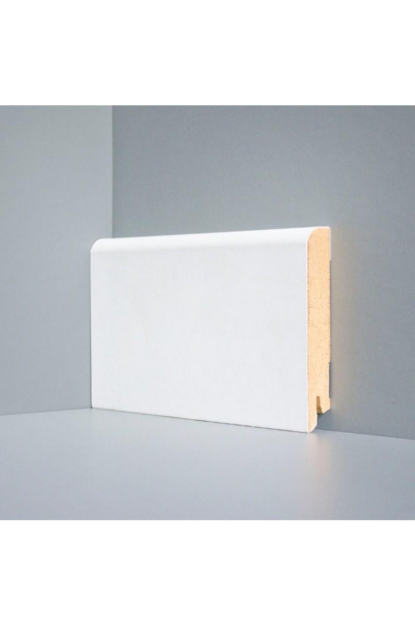 W02 - 100 мм белый напольный плинтус МДФ Deartio