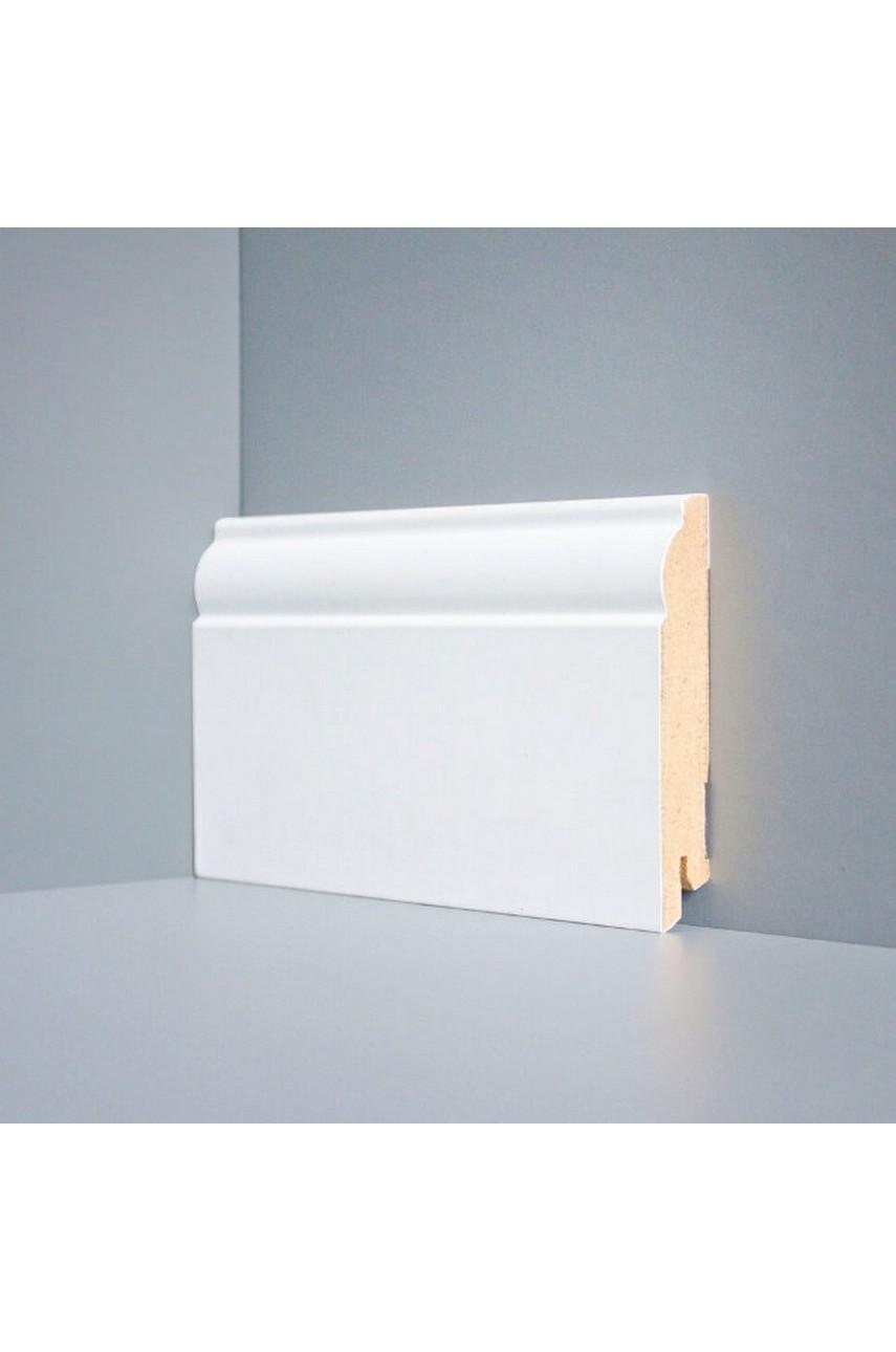 W04 - 100 мм белый напольный плинтус МДФ Deartio