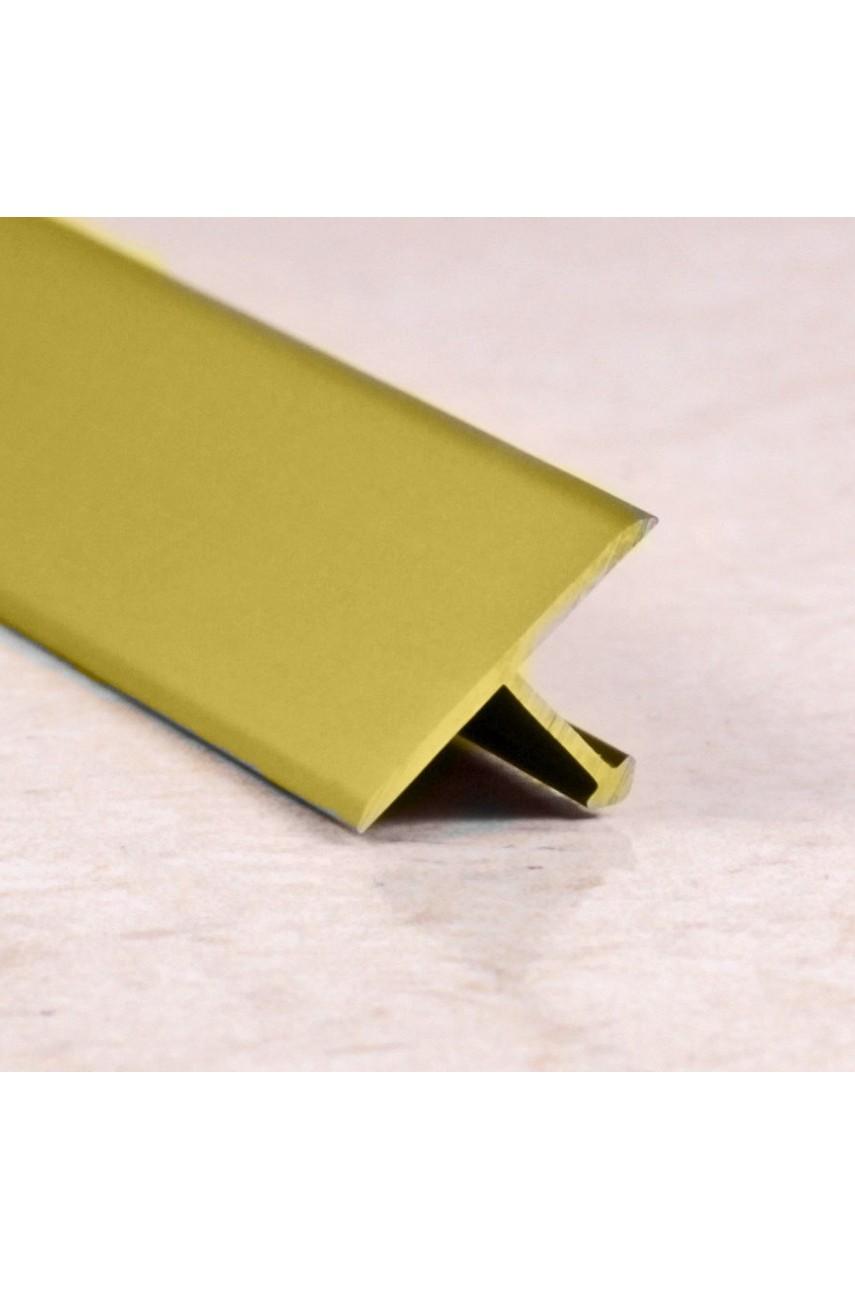 Алюминиевый Т-образный Профиль Золото Глянец 18мм ПТ 18