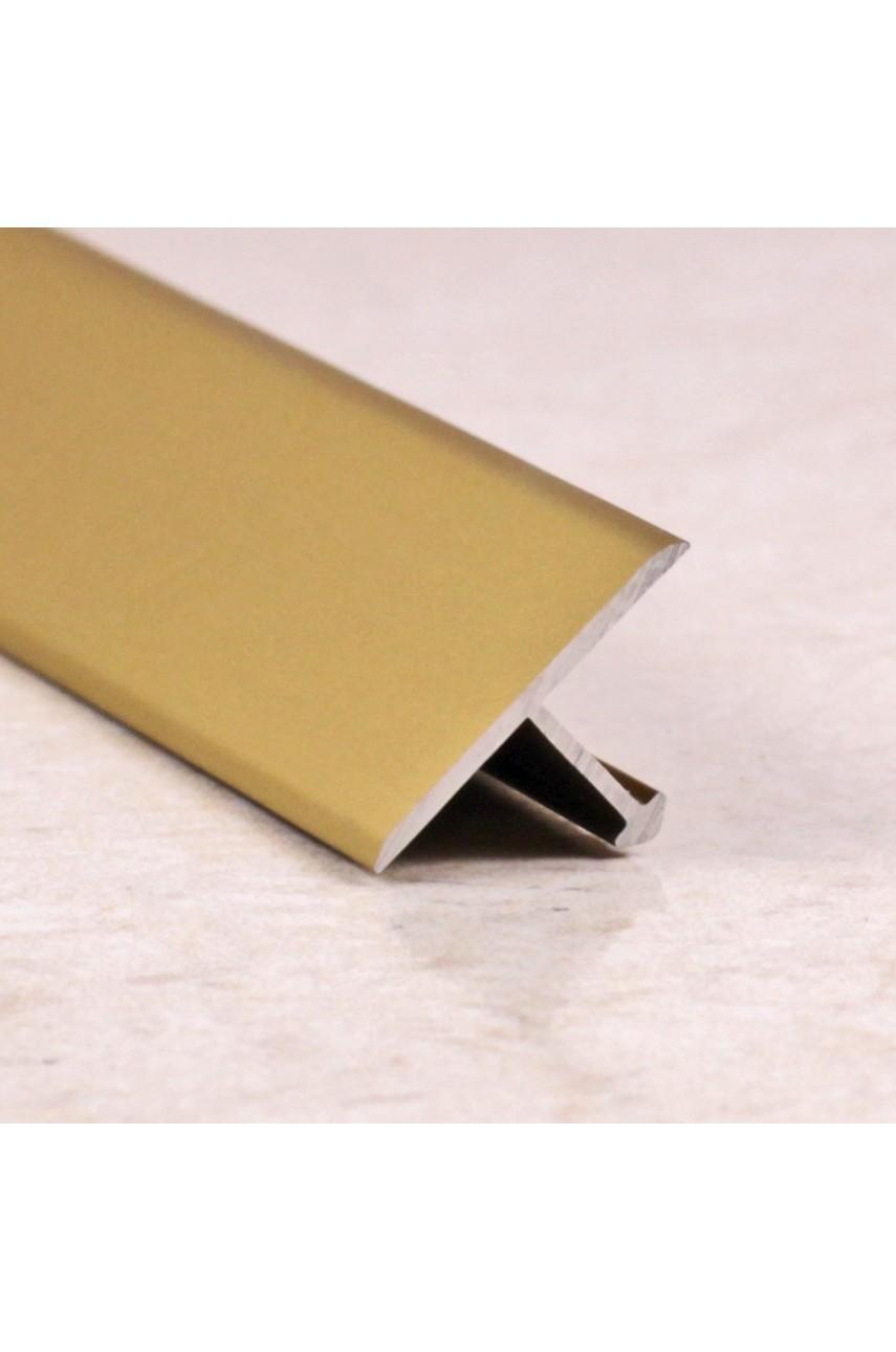 Алюминиевый Т-образный Профиль Золото Матовый 13мм ПТ 13