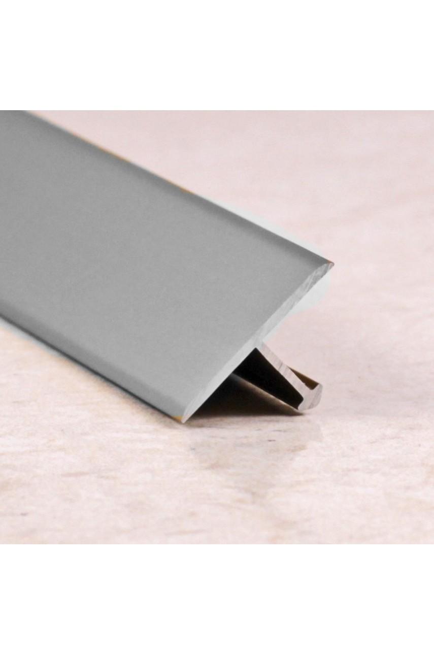 Алюминиевый Т-образный Профиль Серебро Глянец 13мм ПТ 13