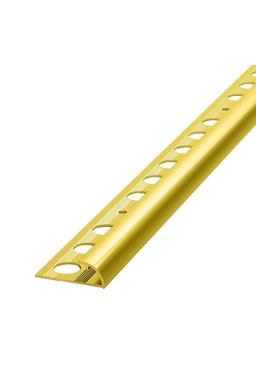 Алюминиевый Профиль(раскладка) для плитки Золото Матовый 8,9мм ПО9