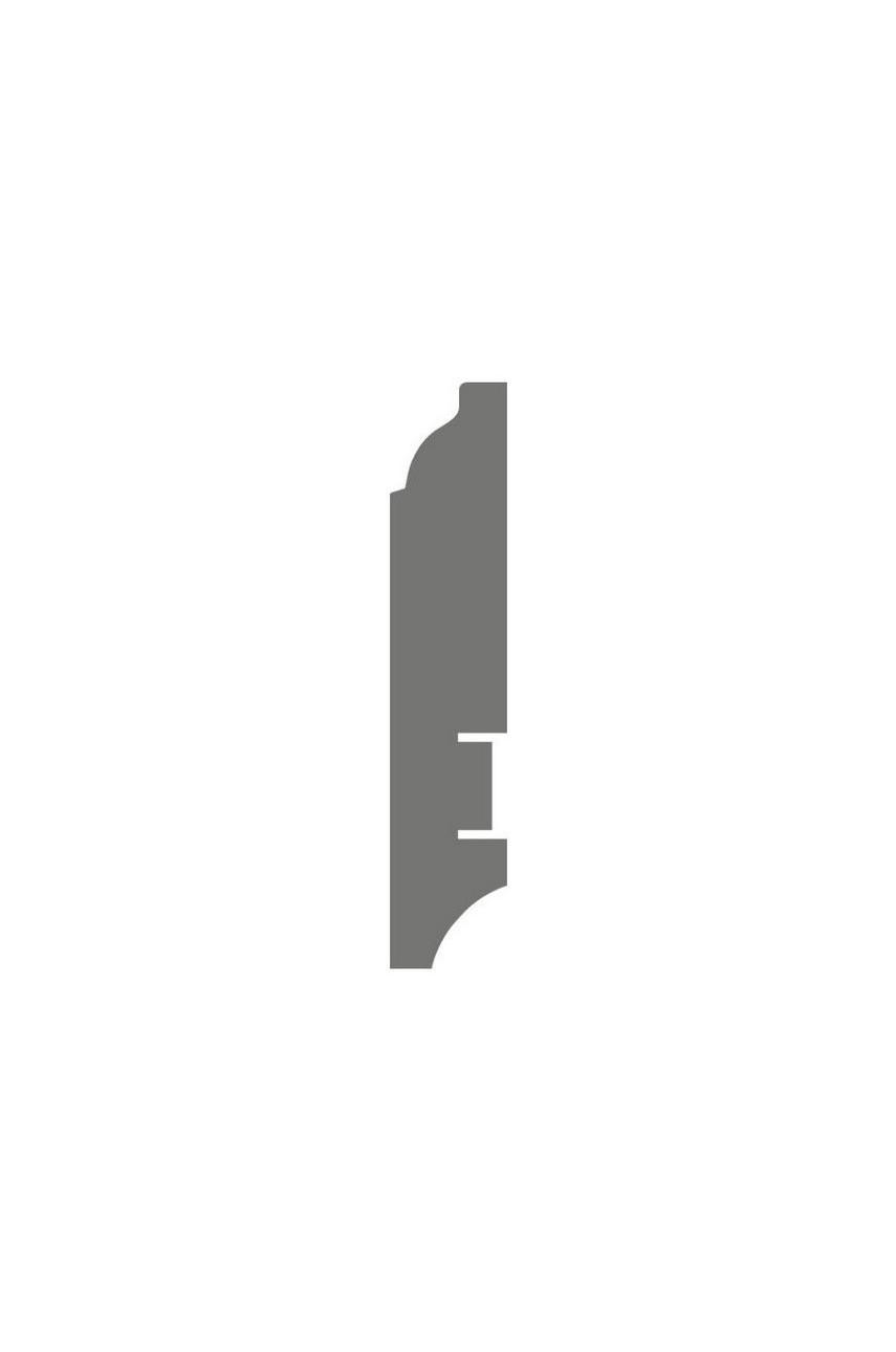 Плинтус для пола белый напольный под покраску HANNAHHOLZ AKTUELL WEISS 301 МДФ 81 мм