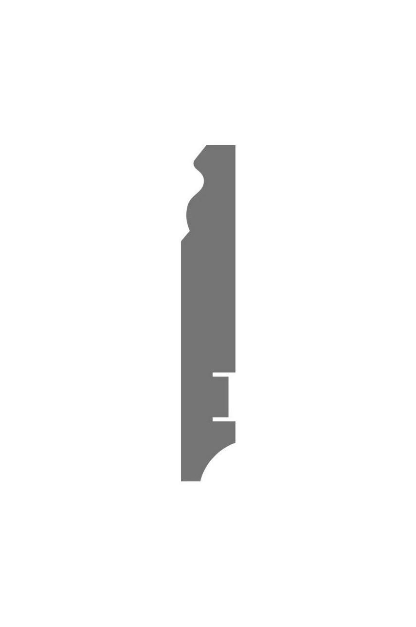 Плинтус для пола белый напольный под покраску HANNAHHOLZ AKTUELL WEISS 303 МДФ 100 мм