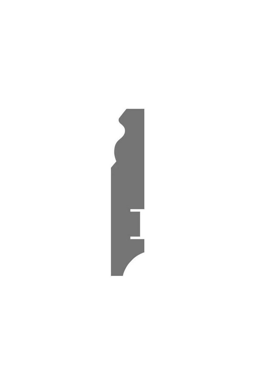 Плинтус для пола белый напольный под покраску HANNAHHOLZ AKTUELL WEISS 303 МДФ 81 мм