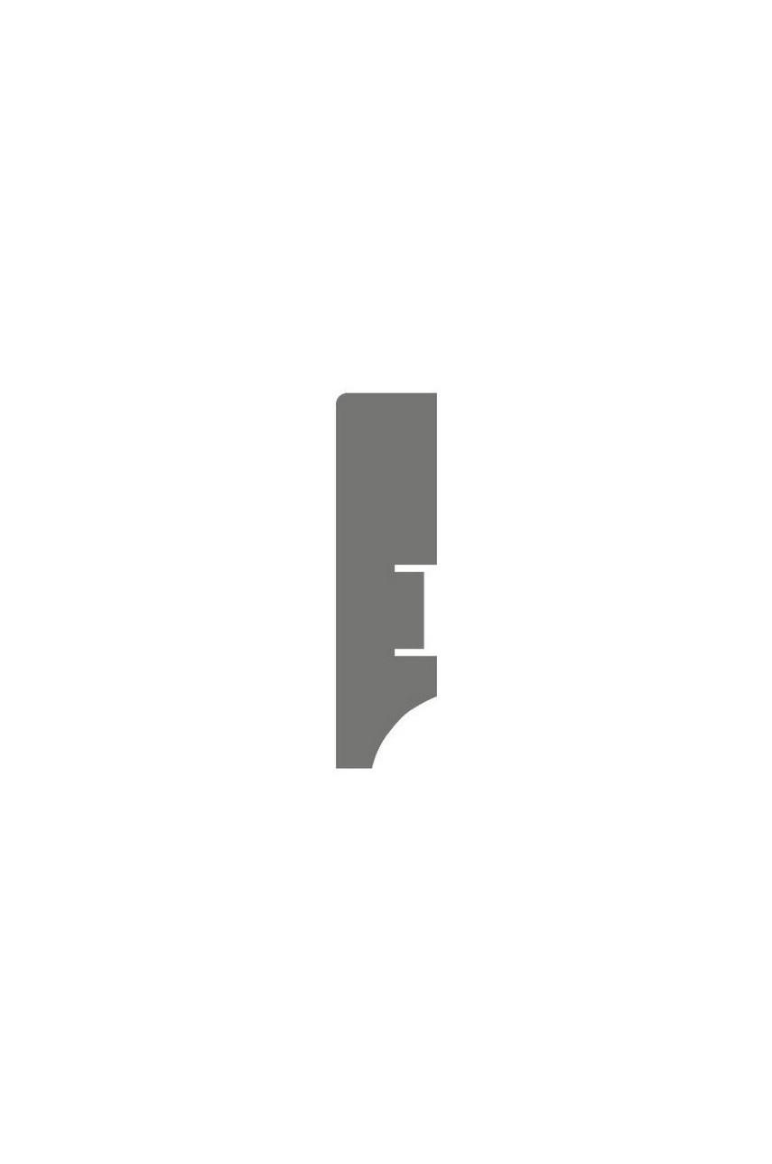 Плинтус для пола белый напольный под покраску HANNAHHOLZ AKTUELL WEISS 401 МДФ 60 мм