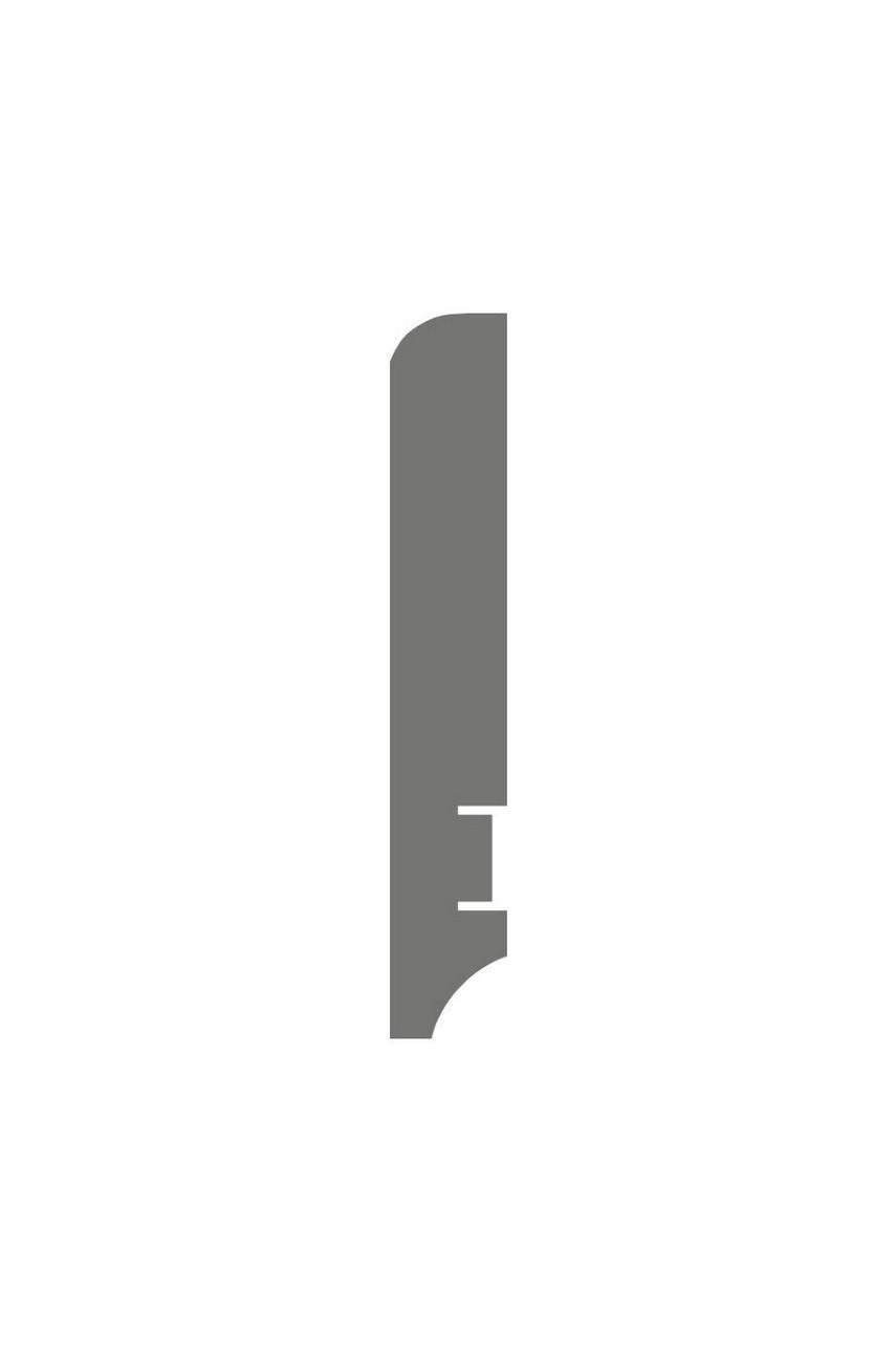 Плинтус для пола белый напольный под покраску HANNAHHOLZ AKTUELL WEISS 402 МДФ 100 мм
