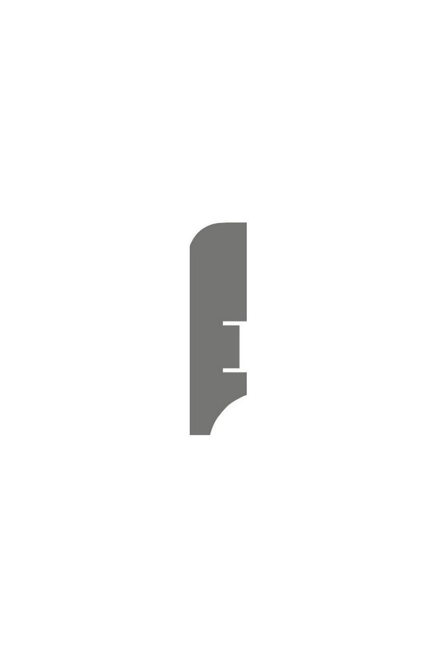 Плинтус для пола белый напольный под покраску HANNAHHOLZ AKTUELL WEISS 402 МДФ 60 мм