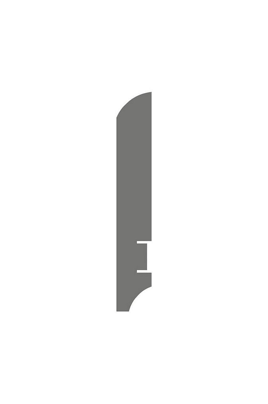 Плинтус для пола белый напольный под покраску HANNAHHOLZ AKTUELL WEISS 403 МДФ 100 мм