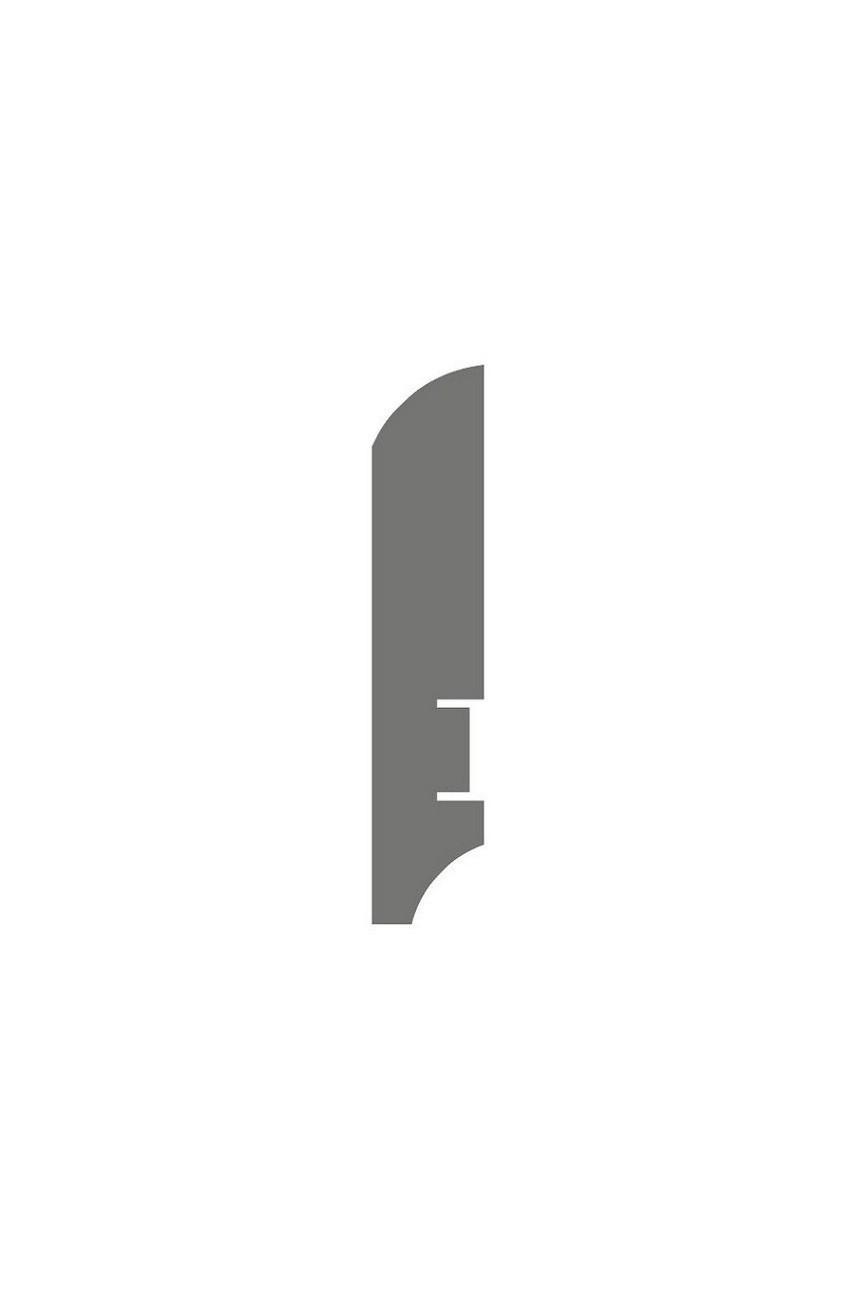 Плинтус для пола белый напольный под покраску HANNAHHOLZ AKTUELL WEISS 403 МДФ 81 мм