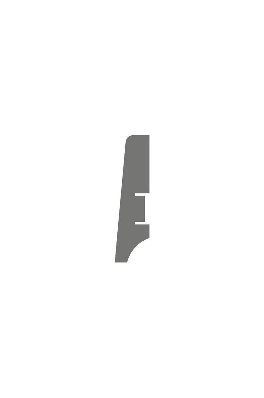 Плинтус для пола белый напольный под покраску HANNAHHOLZ AKTUELL WEISS 404 МДФ 60 мм