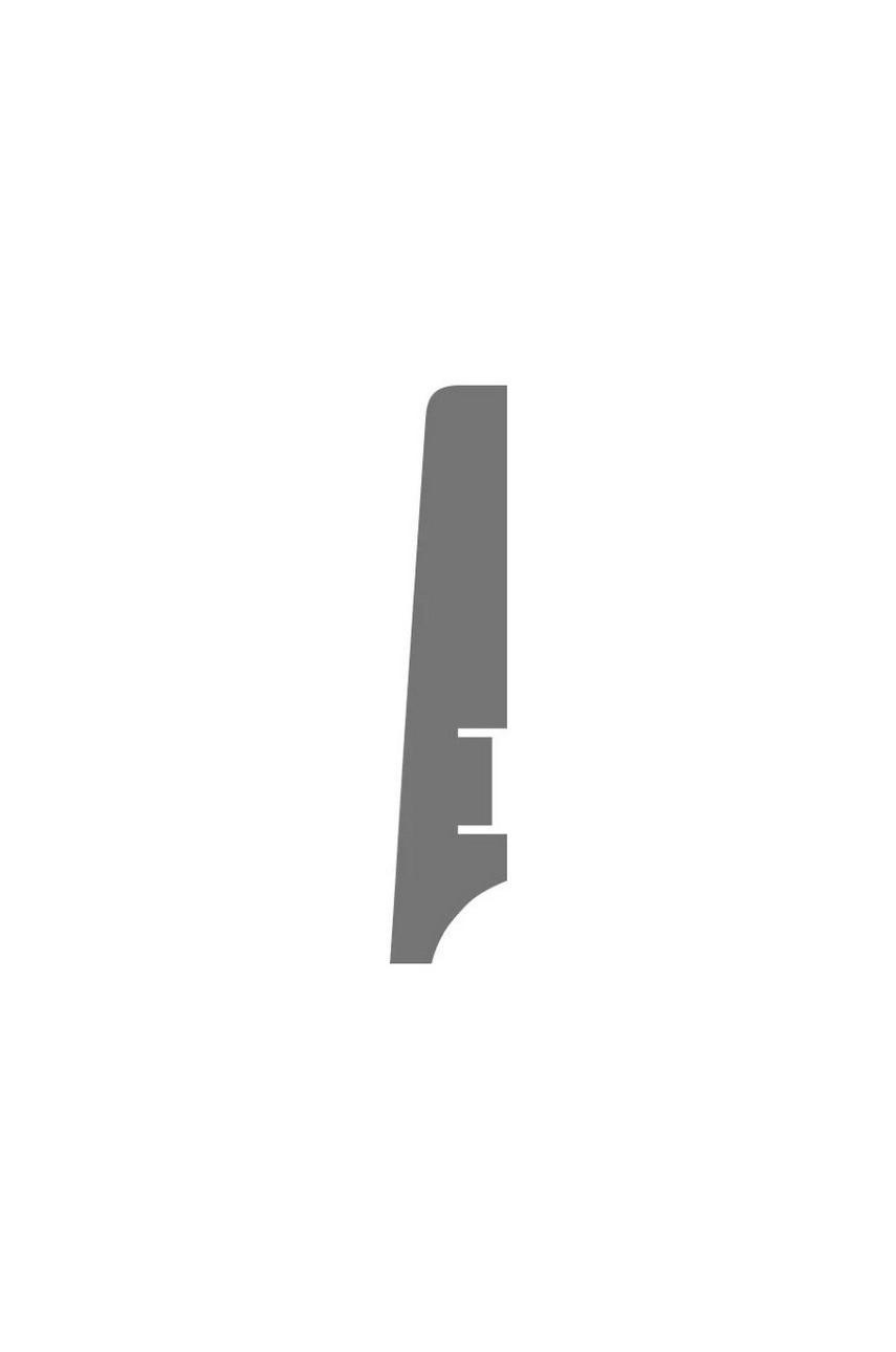 Плинтус для пола белый напольный под покраску HANNAHHOLZ AKTUELL WEISS 404 МДФ 81 мм