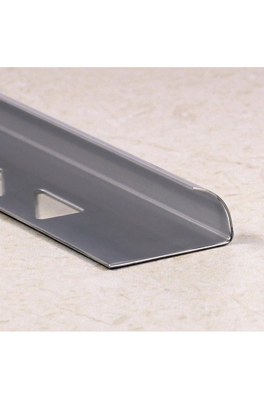 Профиль уголок для плитки из нержавеющей стали AISI 304 SR001 Полированная 10мм