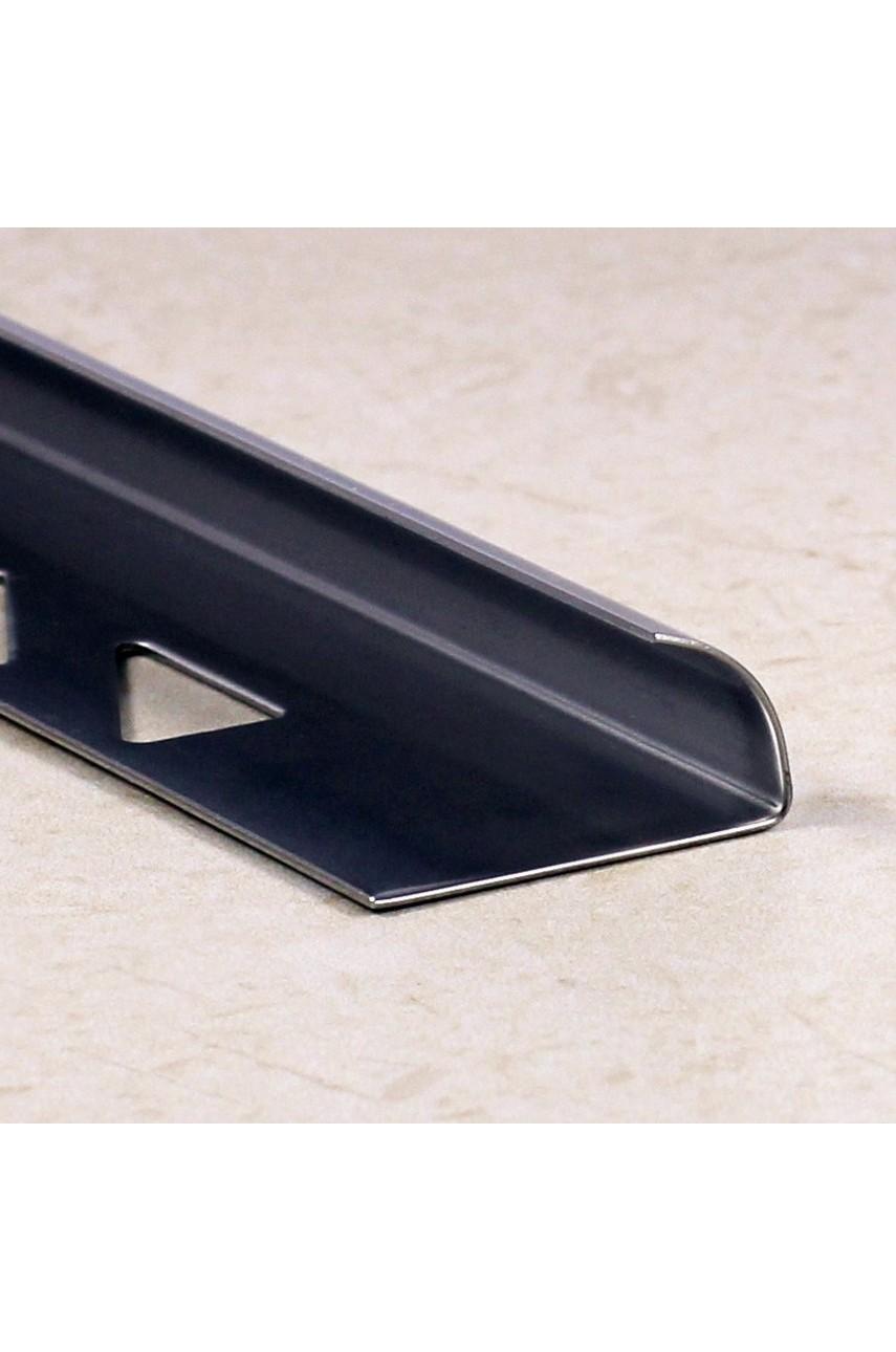 Профиль уголок для плитки из нержавеющей стали AISI 304 SR001 Сатинированная(шлифованная) 12мм