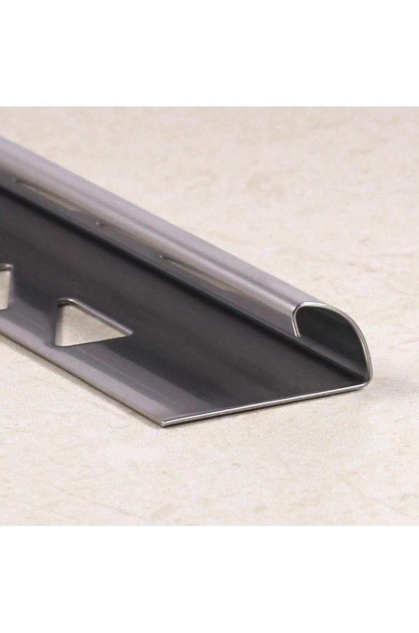 Профиль уголок для плитки из нержавеющей стали закругленный AISI 304 SR003 Сатинированная(шлифованная) 12мм