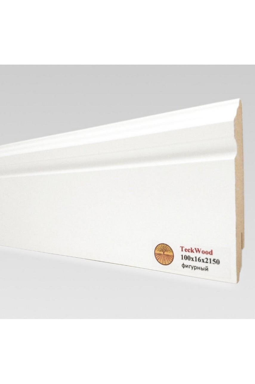Плинтус напольный TECKWOOD белый фигурный (100х16)