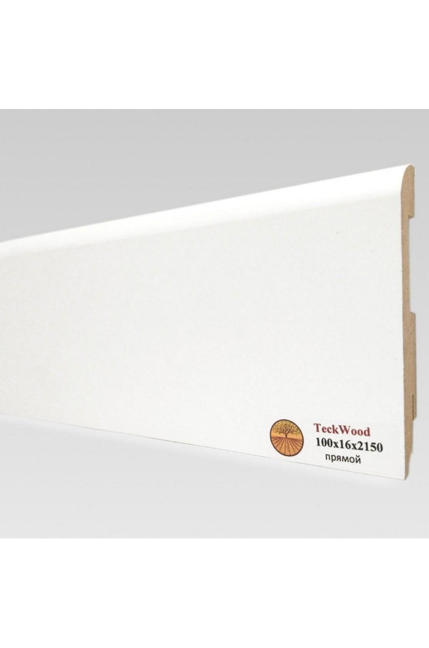 Плинтус напольный TECKWOOD белый прямой (100х16)