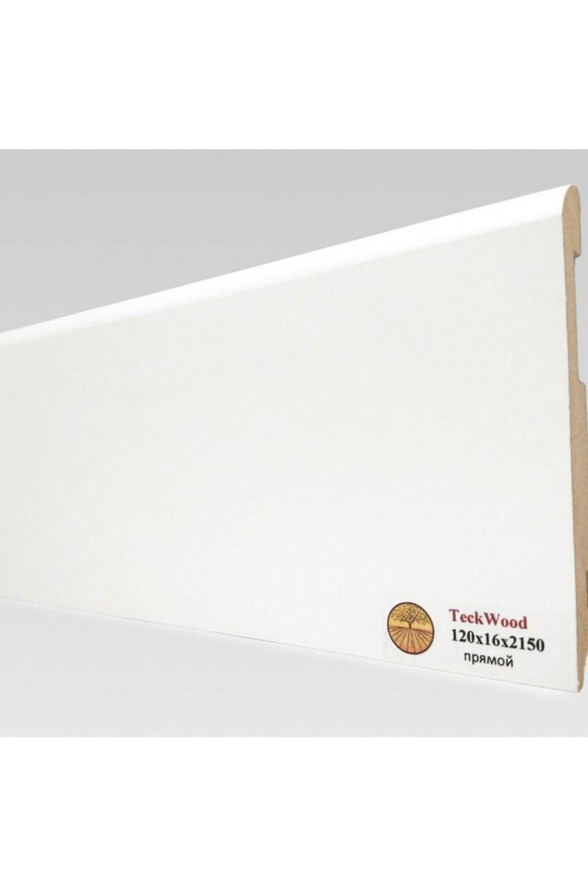 Плинтус напольный TECKWOOD белый прямой (120х16)