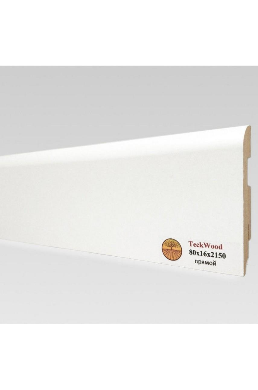 Плинтус напольный TECKWOOD белый прямой (80х16)