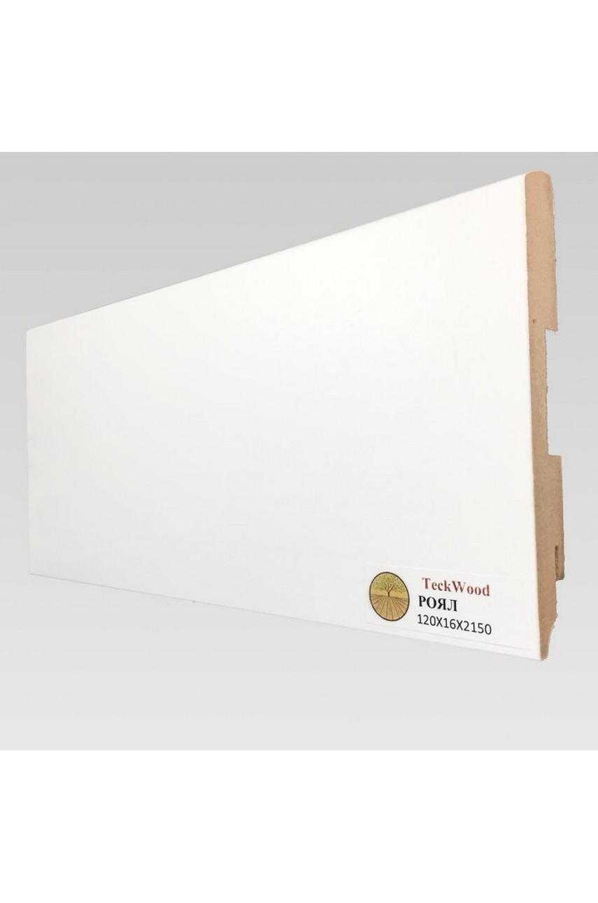 Плинтус напольный TECKWOOD белый Роял (120х16)