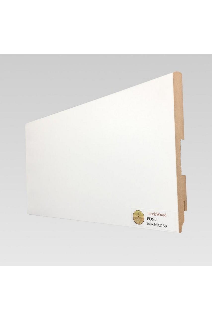 Плинтус напольный TECKWOOD белый Роял (140х16)