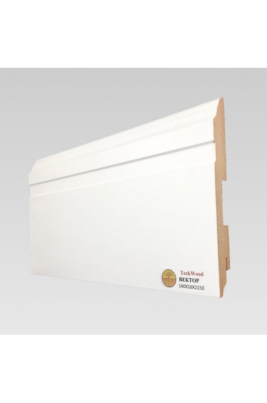 Плинтус напольный TECKWOOD белый Вектор (140х16)